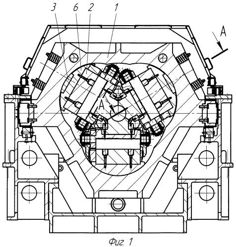 Нажимное устройство рабочей клети стана холодной прокатки труб