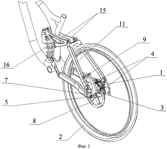 Дисковое велосипедное тормозное устройство