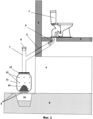 Способ организации канализационной системы вне городских коммуникаций и канализационная система для его осуществления