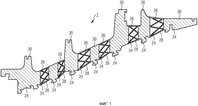 Сегментированная в осевом направлении обойма направляющих лопаток для газовой турбины, а также газовая турбина и газопаровая турбинная установка с сегментированной обоймой направляющих лопаток