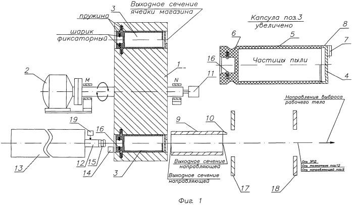 Устройство для подачи пылеобразного рабочего тела в электроракетный двигатель