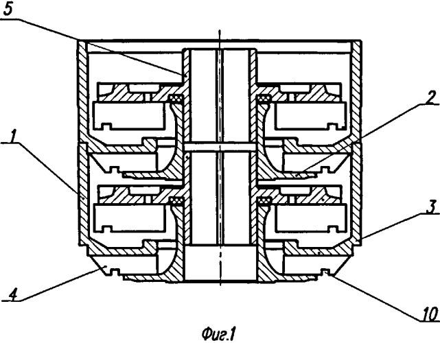 Диспергирующая ступень погружного многоступенчатого центробежного насоса
