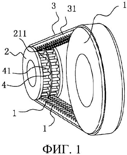 Система составной клиноременной передачи, сочетающая фрикционную передачу и передачу зацеплением
