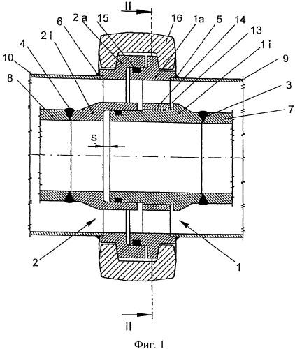 Устройство для соединения двухкожуховых труб (варианты) и способ соединения двухкожуховых труб