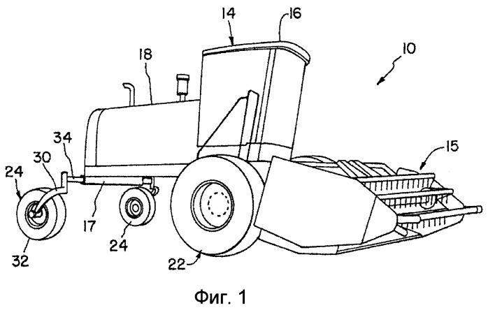 Шарнирное транспортное устройство для виндроуэра с жаткой