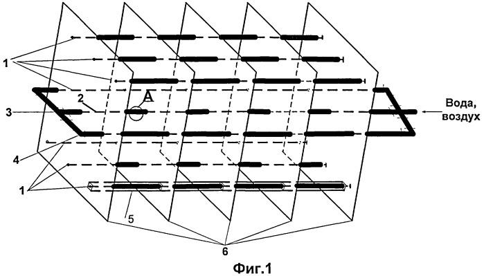 Блок тонкослойного отстаивания со встроенной системой регенерации
