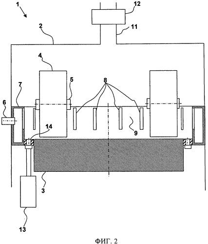 Валковая мельница с газовым каналом