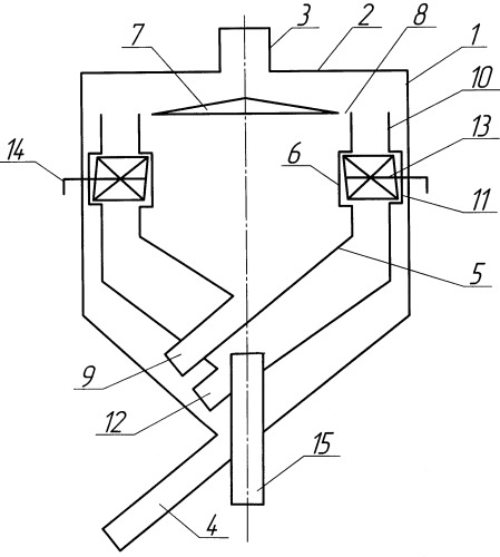 Воздушный центробежно-инерционный классификатор