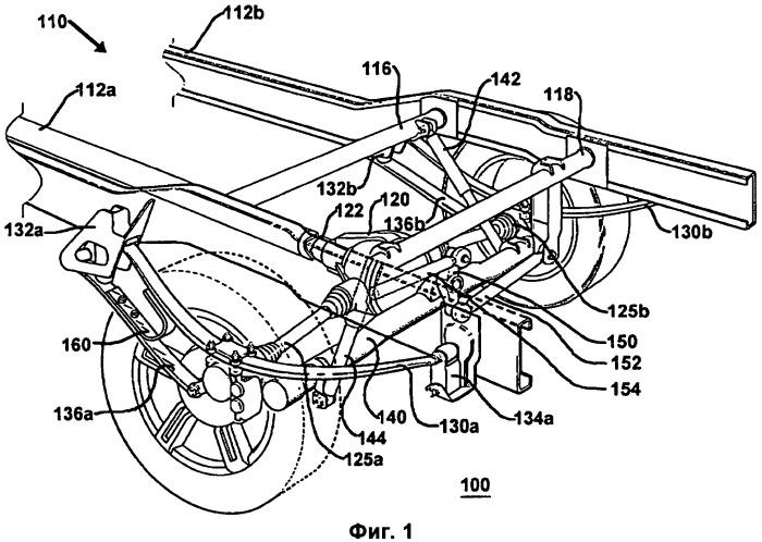 Сдвоенная рессорная подвеска для транспортного средства с j-образным пружинным элементом