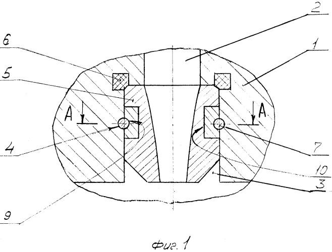 Промывочный узел бурового долота