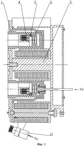 Модель стационарного плазменного двигателя