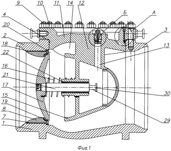 Клапан обратный осесимметричный с верхним фланцевым разъемом