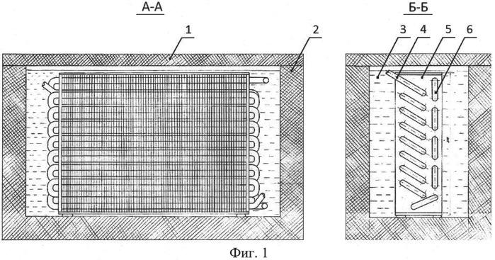 Испаритель-конденсатор с промежуточным хладоносителем