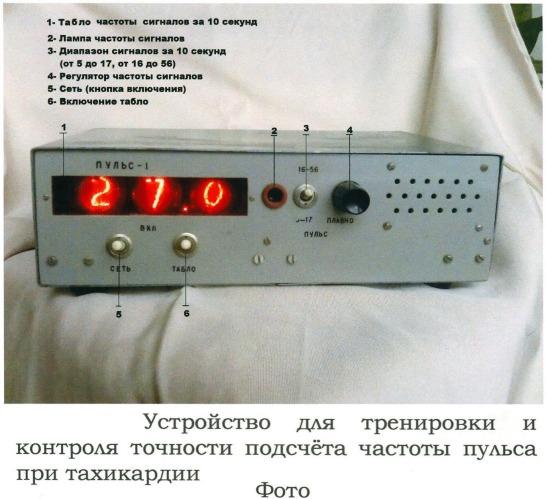 Способ тренировки подсчета частоты пульса при тахикардии