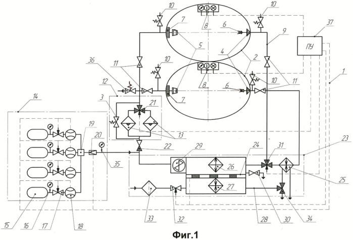 Система кондиционирования барокомплекса
