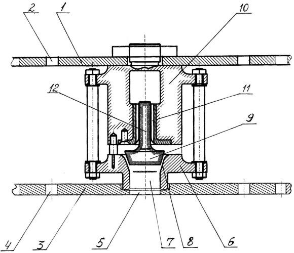 Сдвоенная решетчато-клапанная тарелка для получения наноструктурированного олигомерного битума