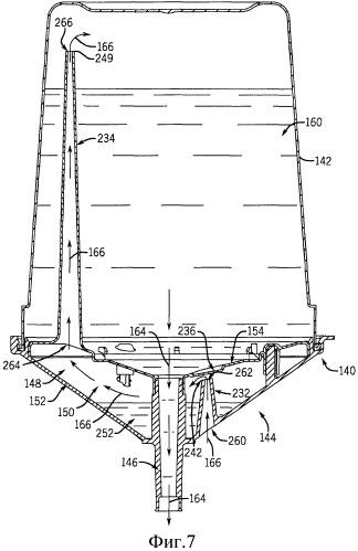 Система подачи жидкости для распылительного устройства с подачей самотеком