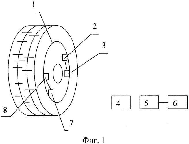 Пассивный измеритель давления и температуры воздуха в шине колеса автомобиля