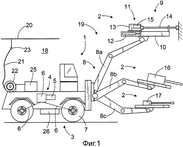 Горно-шахтное транспортное средство и способ его электропитания
