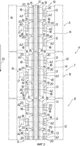 Зажимное устройство для укладочной башни и способ укладки непрерывных, удлиненных элементов в водоеме