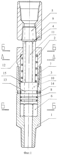 Переводник для безопасного извлечения колонны бурильных труб