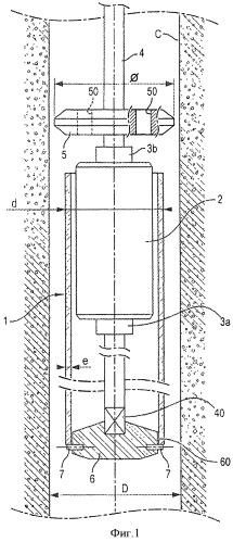 Устройство для установки расширяемой внутренней облицовки с контролем установочного диаметра по мере продвижения