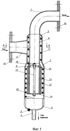 Сепаратор для очистки природного газа