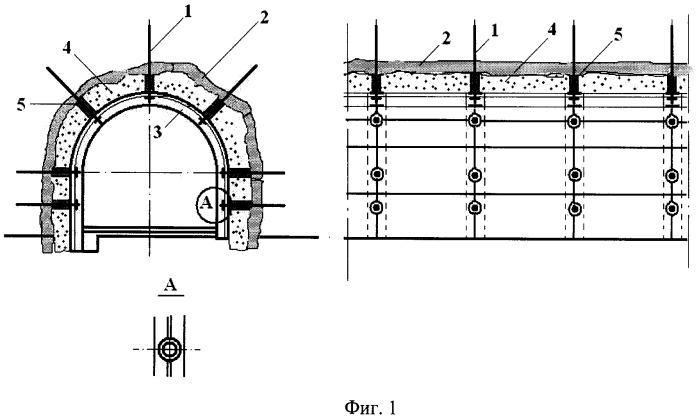 Способ возведения сейсмостойкой бетонной крепи