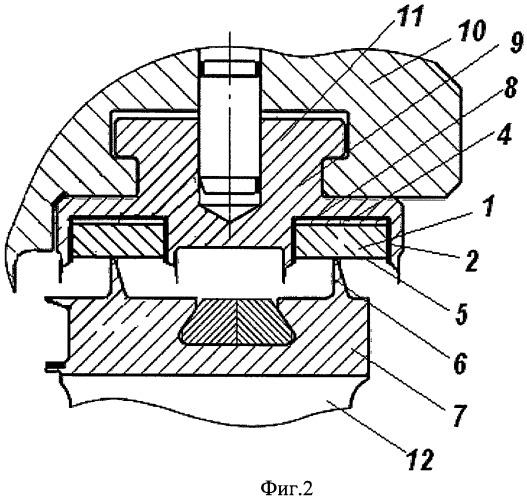 Надбандажное лабиринтное уплотнение для паровой турбины