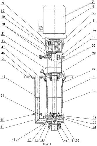 Химический вертикальный электронасосный агрегат с рабочим колесом закрытого типа и способ перекачивания химически агрессивных жидкостей