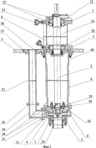 Химический вертикальный насос с рабочим колесом закрытого типа
