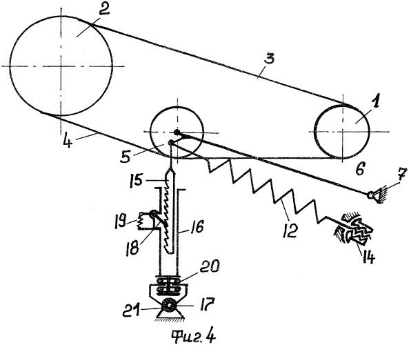 Способ и устройство автоматического натяжения передачи гибкой связью