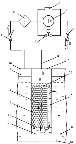 Массообменный аппарат с дискретной подачей газовой среды