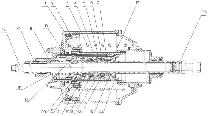 Тормозной цилиндр единицы подвижного состава