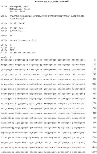 Способы повышения усиливающей целлюлолитической активности полипептида