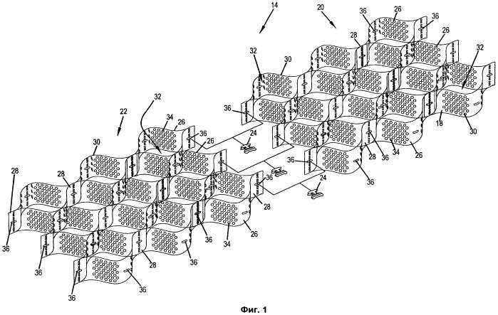Устройство соединения для скрепления протяженных ячеистых конструкций локализации и соответствующий способ скрепления