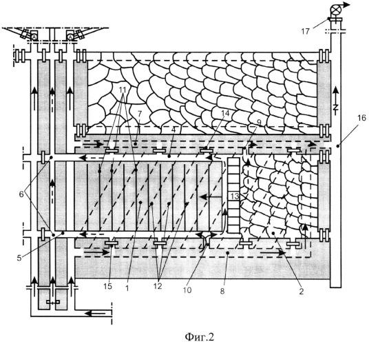 Способ комплексного управления газовыделением на выемочных участках при отработке мощных и сближенных высокогазоносных пологих угольных пластов