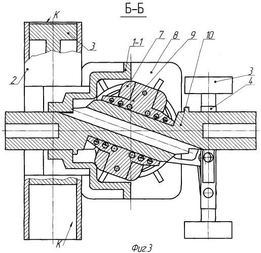 Механизм преобразования движения поршневой машины, в частности двигателя внутреннего сгорания
