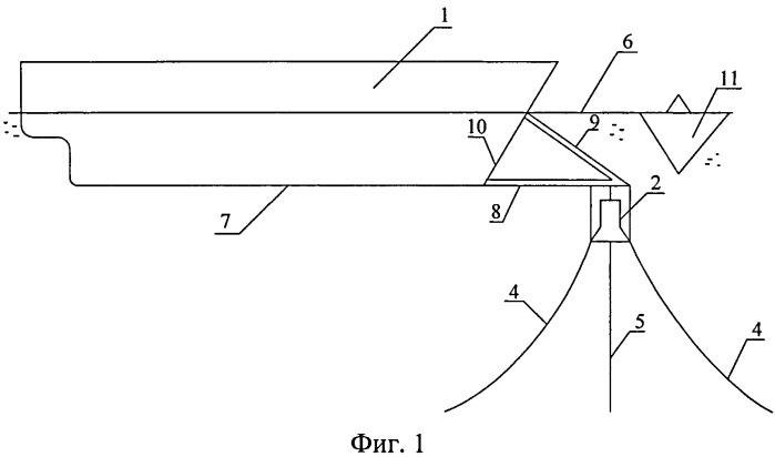Морская технологическая ледостойкая плавучая платформа судового типа