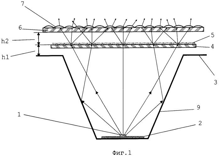 Способ создания светоизлучающей поверхности и осветительное устройство для реализации способа