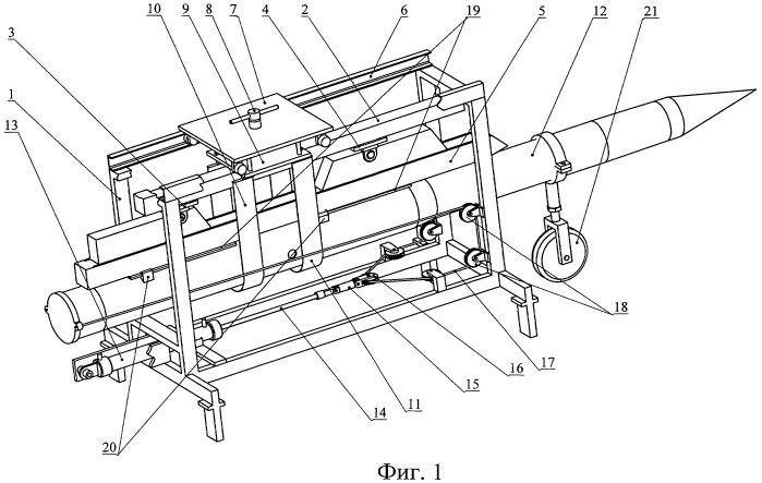 Стенд для контроля параметров схода авиационной ракеты