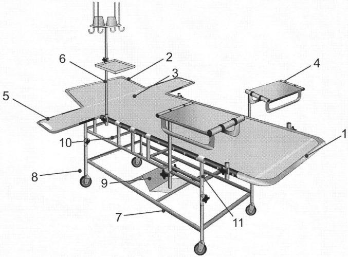 Многофункциональная специализированная кровать для лечения патологии кожных покровов