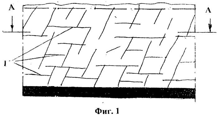 Способ определения внутренней системы трещин на обнажениях