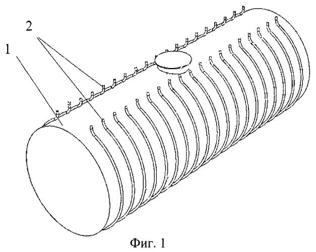 Способ монтажа системы обогрева двухстенных резервуаров