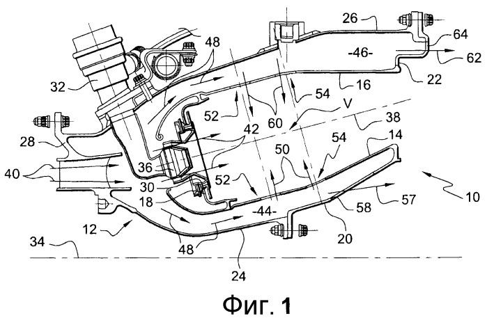 Стенка камеры сгорания турбомашины с единым кольцевым рядом отверстий для входа первичного и смесительного воздуха
