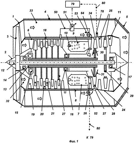 Двухконтурный газотурбинный двигатель и способ регулирования радиального зазора в турбине двухконтурного газотурбинного двигателя
