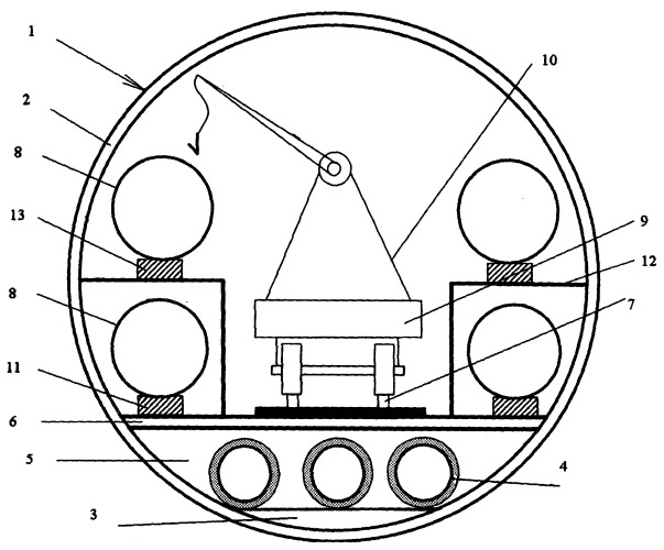 Способ укладки трубопроводов в необслуживаемом технологическом тоннеле в несколько ярусов