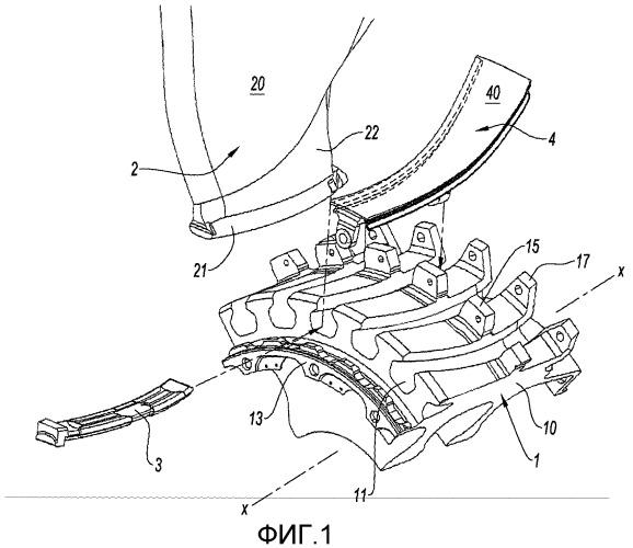 Уплотнительная прокладка площадки в роторе турбомашины
