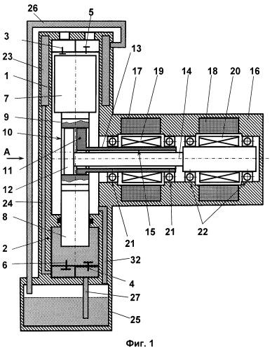 Компрессор с комбинированным механизмом привода