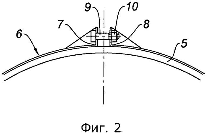 Корпус ротора турбокомпрессора, содержащий периферийный бандаж